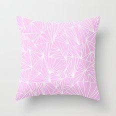 Ab Fan Pink Throw Pillow