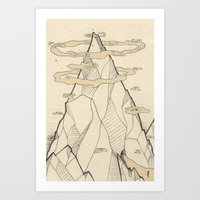 Ray Hope Mountain Art Print