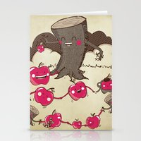 Apples And Tree Trunks A… Stationery Cards