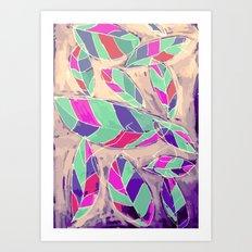 Lovely Leaves Drifting Down Art Print
