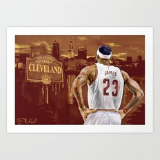 LeBron, The Return Art Print