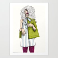 Fashion Illustration - Patterns and Prints - Part 2 Art Print