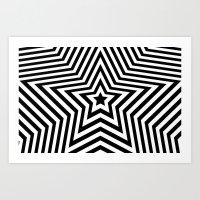 Stars - Black & White Ve… Art Print