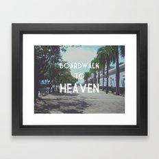 Boardwalk to Heaven Framed Art Print