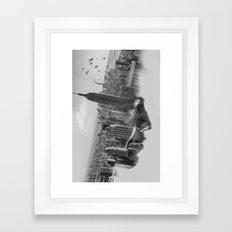 Vision mono Framed Art Print
