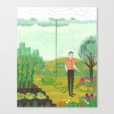 Using Rain Canvas Print