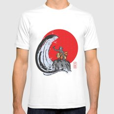 Aang in the Avatar State Mens Fitted Tee SMALL White