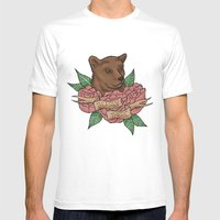 Bearly There Mens Fitted Tee White SMALL