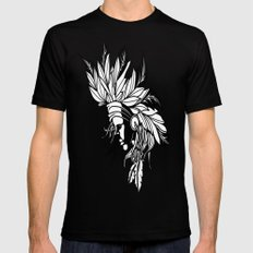 Native Girl Black Mens Fitted Tee SMALL