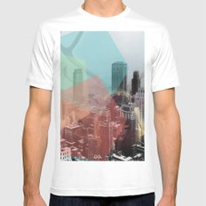 Hipster Horns. White Mens Fitted Tee SMALL