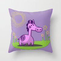 L. Horse Throw Pillow
