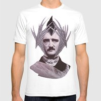 EDGAR ALLAN POE Mens Fitted Tee White SMALL