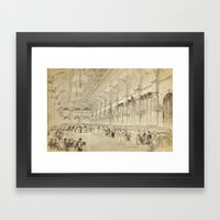 Grand Ball Hotel De Ville Paris Framed Art Print