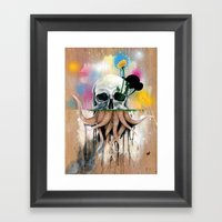Skull Roots Framed Art Print
