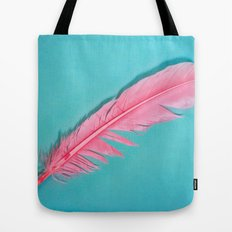 PINK FEATHER Tote Bag
