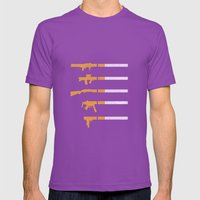 Lung Bullets Mens Fitted Tee Ultraviolet SMALL