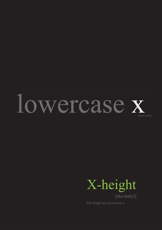 Typo Type B: X-height Art Print