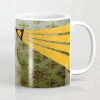 analog zine - song bird Mug
