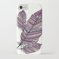 feathers iPhone & iPod Cases featuring FEATHERS by Monika Strigel