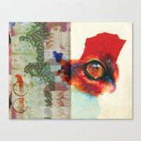 fox eye Canvas Print
