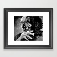 Charles Bukowski - Black… Framed Art Print
