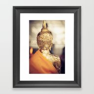 Buddha The Other Side  Framed Art Print