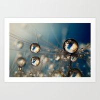 Royal Sea Blue Drops Art Print