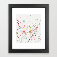 Wishes As Confetti / New… Framed Art Print