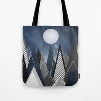 Midnight Mountains Tote Bag