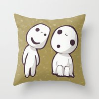 Kodamas Throw Pillow