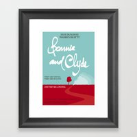 Bonnie And Clyde Framed Art Print