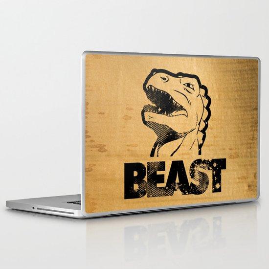 Big In Japan - Black on Cardboard Laptop & iPad Skin