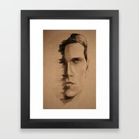 HALF FACE Framed Art Print