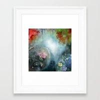 Spring paradise painting Framed Art Print