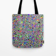 Tote Bag featuring Multicolor Pattern. by Assiyam