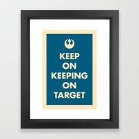 Keep On Keeping On Target (Blue) Framed Art Print