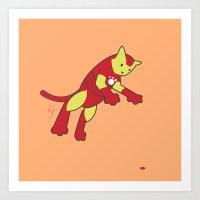 The Invincible IronCat Art Print