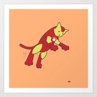 The Invincible IronCat Art Print