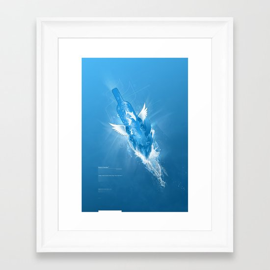 Flowing Paradise Framed Art Print