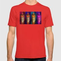 Glow Mens Fitted Tee Red SMALL