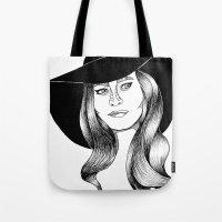 Belle Fille D'or Tote Bag