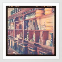 At The Tea Shop Art Print