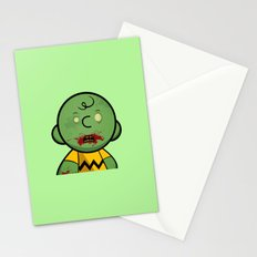 Zombie Charlie Brown Stationery Cards