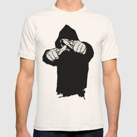 Hey You Mens Fitted Tee Natural SMALL