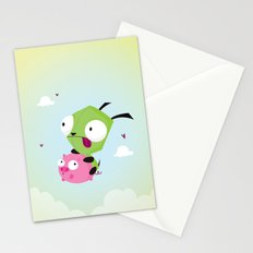 Invasor Zim Stationery Cards