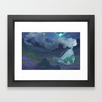 Mist On The Moors Framed Art Print