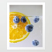 Bubbly Fruit Art Print