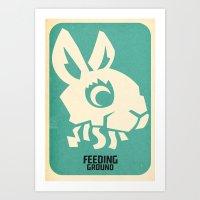 FEEDING GROUND Bunny Piñata Art Print