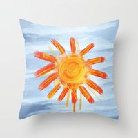Sunshine Painting Throw Pillow