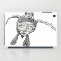 iPad Case featuring Chelonioidea (the turtle) by Beth Thompson